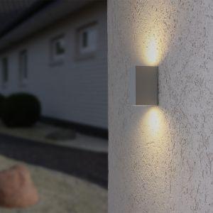 LHG LED-Außenwandfluter weiß, inkl. 2x GU 10 5 Watt
