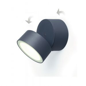 LED-Außenwandleuchte in anthrazit, schwenkbar