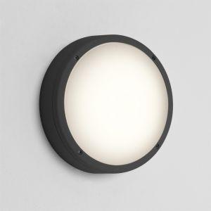 LED-Außenwandleuchte Arta rund, in Schwarz