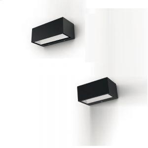 LED-Außenwandleuchte eckig, in Anthrazit Länge 14cm 1x 9 Watt, anthrazit, 8,85 cm, 14,00 cm, 6,50 cm