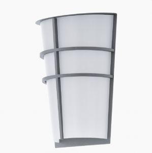 LED-Außenwandleuchte mit Kunststoffglas, in silber silber/weiß