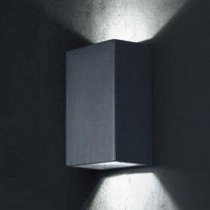 LED-Außenwandleuchte Piazza Aluminium, 2 Farben