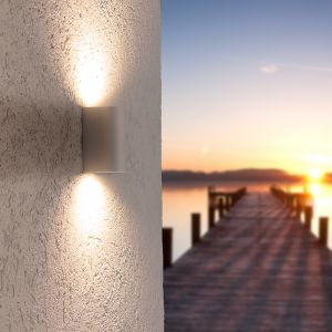 LHG LED-Außenwandleuchte weiß + 2x 5W LED