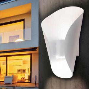 LED-Außenwandleuchte in weiß, Licht nach oben und unten