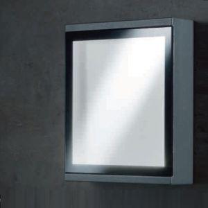 LED-Außenwandleuchte Window in grafit, 16 x 20 cm