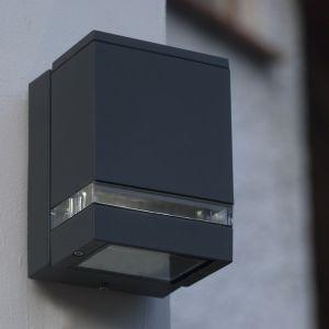 LED-Außenwandleuchte, 3x1Watt, Aluminium