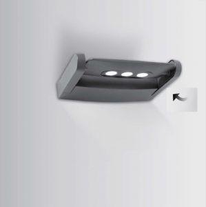 LED-Außenwandleuchte, 3x3Watt, in Anthrazit
