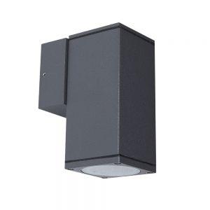 LHG LED-Außenwandleuchte, Aluminium, Anthrazit, warmweiß