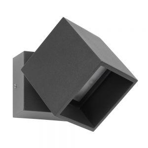 LED-Außenwandstrahler in graphit, LED 10W