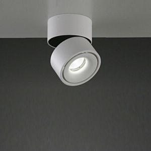 LED-Aufbaustrahler in weiß, Alu-Druckguss, 1x LED 9,3W
