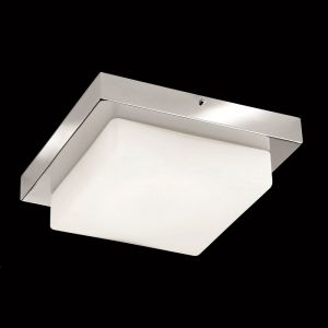 LED-Badleuchte IP44 in Chrom mit mattem Opalglas, 4x4,5W LED
