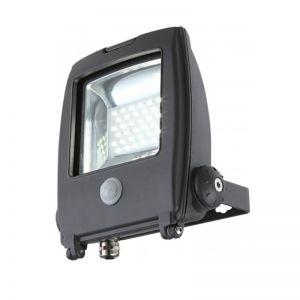 LED-Baustrahler mit Sensor, in Aluminium grau