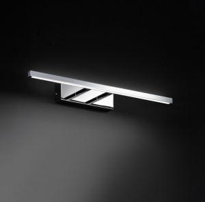 LED-Bilderleuchte Chrom glänzend, schlicht modern, rechteckig, 45,5cm lang 1x 6,8 Watt, 45,50 cm
