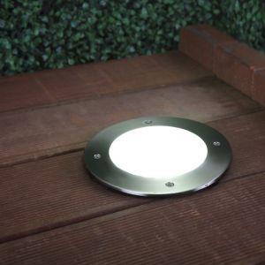 LHG LED-Bodeneinbauleuchte mit Edelstahlring, - D=18cm, nur 3,3 Watt