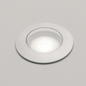 LED-Bodeneinbauleuchte, Außenstrahler, 2,2 Watt LED, Aluminium, silber