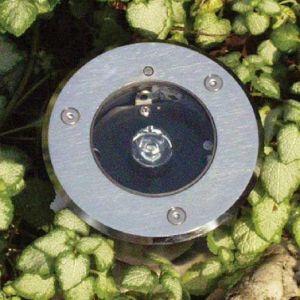 LED-Bodeneinbaustrahler Edelstahl, Lichtfarbe warm-weiß
