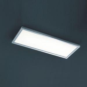 LHG LED-Büro-Deckenleuchte Aluminium gebürstet, Acrylglas weiß + Extra 1x GU10 LED