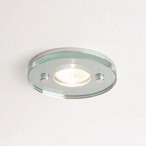 LED-Deckeneinbauleuchte rund - Klarglas - Chrom - Ø5,5cm