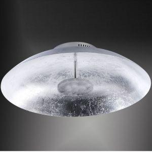 LED-Deckenleuchte Ø 50cm mit edler Oberfläche in Silber silber, Blattsilber