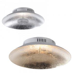 LED-Deckenleuchte 30cm in Blattsilber- oder Blattgoldoptik
