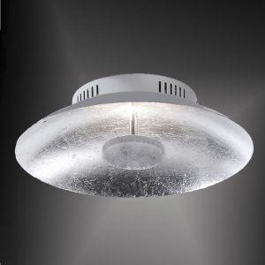 LED-Deckenleuchte 30cm in Blattsilberoptik silber, Blattsilber
