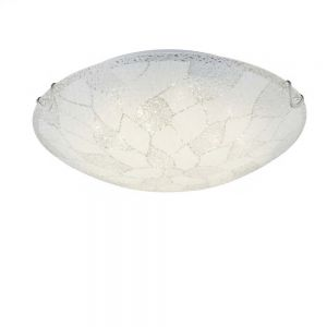 LED-Deckenleuchte in Ø40cm, opales Strukturglas geeist 1x 18 Watt, 40,00 cm