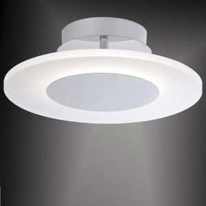 LED-Deckenleuchte Acrylglas satiniert, Ø35cm, rund