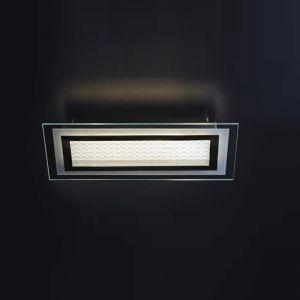 LED-Deckenleuchte in Chrom inklusive LED-Board 3x 4,34W - 1500lm insgesamt - 44cm x 22cm 3x 4,34 Watt, 7,30 cm, 44,00 cm, 22,00 cm