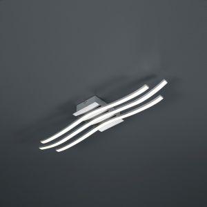 LED-Deckenleuchte Chrom / Acryl weiß, inklusive LED 24W