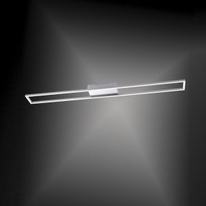 LED-Deckenleuchte eckig- Stahl/Acrylglas - 40,8 Watt LED, 3672lm
