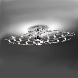 LED-Deckenleuchte Florian oval 100 cm, Chrom