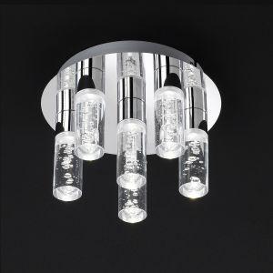 LED-Deckenleuchte Kent Chrom - LED 6 x 5 Watt