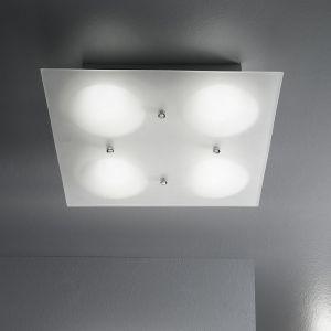 LED-Deckenleuchte Lowell, Glas 36 x 36 cm