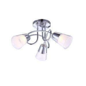 LHG LED-Deckenleuchte mit Kunststoffglas 3x 3W + LED-Taschenlampe