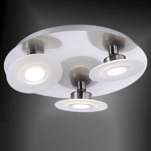 LED-Deckenleuchte mit LED- Switchmo ® - Nickel /Glas