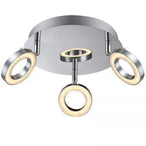 LED-Deckenleuchte Orell chrom, 3xLED je 5W