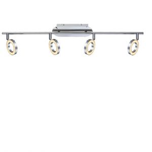 LED-Deckenleuchte Orell chrom, 4xLED je 5W