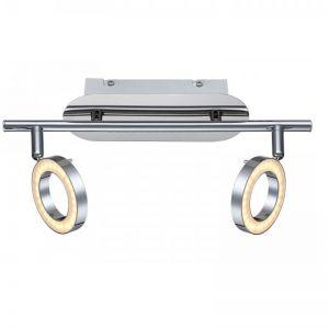 LED-Deckenleuchte Orell chrom, 2 x LED je 5W