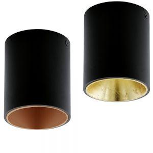 LED-Deckenleuchte Polasso in Schwarz
