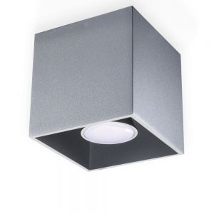 LHG LED-Deckenleuchte Quad grau, inklusive 7 Watt