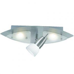 LED-Deckenleuchte in stahlfarben, 3 x 3 Watt LED