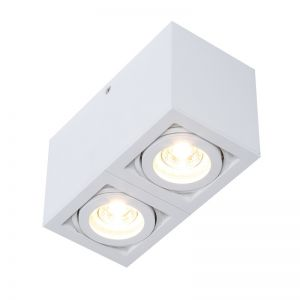 LHG LED-Deckenleuchte weiß Spots schwenkbar Aluminium