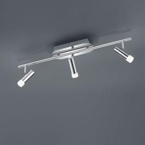 LED-Deckenleuchte Zidane - 3-flammig - Chrom 3x 4,5 Watt, 17,50 cm, 60,00 cm