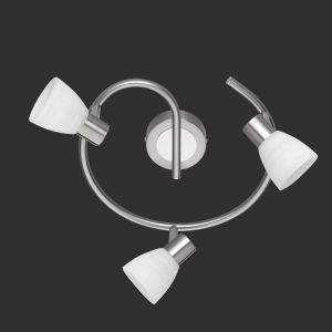 LED-Deckenstrahler Carico Rondel in Nickel-matt / Chrom, 3-flg