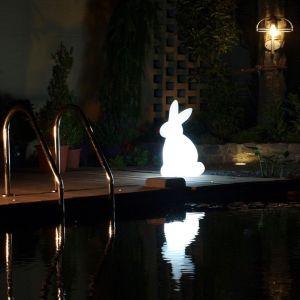 LED-Dekoleuchte Rabbit mit RGB-Farbwechsel