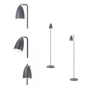 LED-Design Stehleuchte - designt by Bønnelycke mdd - dreh- und schwenkbar, inklusive 3 Watt LED, Leuchte in Grau 1x 3 Watt, grau