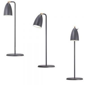 LED-Design Tischleuchte Leuchte in Grau 1x 3 Watt, grau, matt