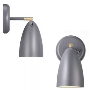 LED-Design Wandleuchte inkl. 3W LED, Grau matt grau, matt