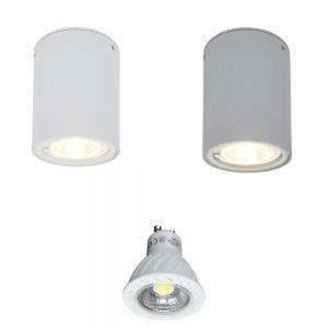 LED-Downlight aus Aluminium, 2 Oberflächen, inkl. 7W LED