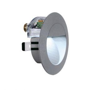 LED-Einbauleuchte Aluminium gebürstet mit  LEDs in weiß